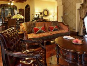 美式风格复式家居室内装修图片