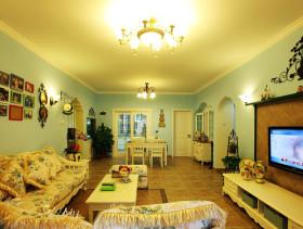 田园风格餐厅乐活120平米三室两厅两卫2012简约客厅装修