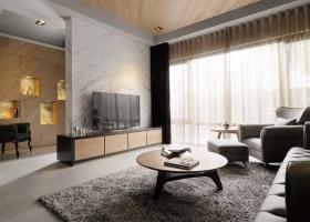 冷色调新古典风格客厅背景墙设计大全