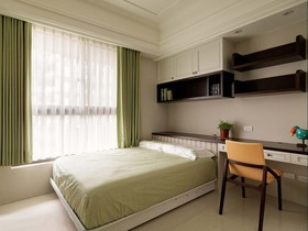 新古典风格清新绿色儿童房设计案例图片