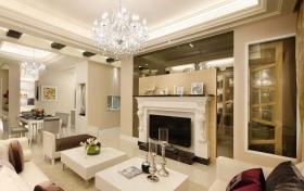 清新白色调墙壁2012客厅背景墙装修