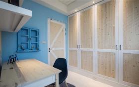 简约欧式蓝色书房设计