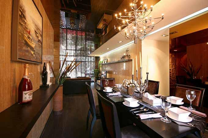 中式高雅餐厅设计效果图