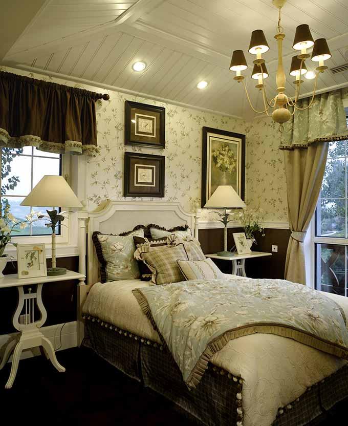 英伦田园风格卧室装潢设计