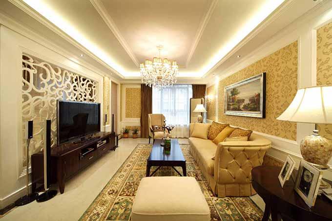 欧式客厅装修效果图图片