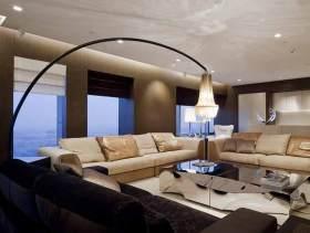 现代流畅空间客厅装修效果图