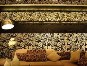 欧式精美客厅背景墙装潢设计