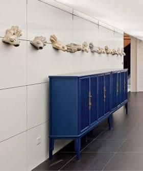 地中海式收纳柜一角装修设计图