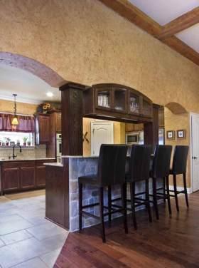 美式复古厨房吧台装修效果图