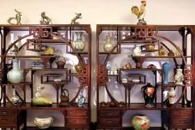 古典摆物收纳柜装潢设计图