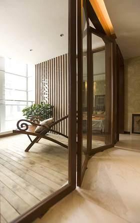 中式现代阳台装修效果图