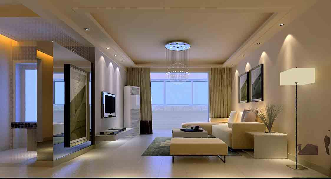 简约现代客厅装修设计图