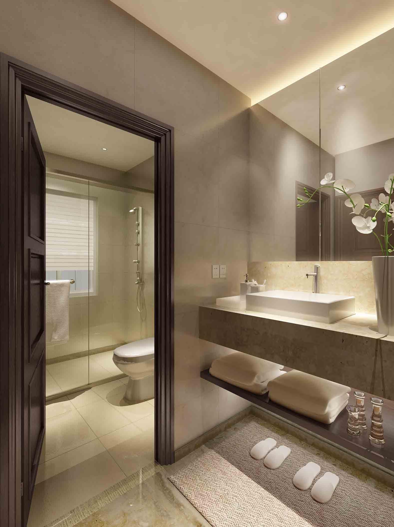 装修美图 简约卫生间装修效果图  免费户型设计 3家优质装修公司免费