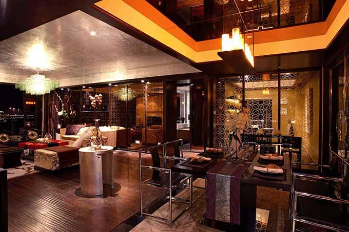 奢华中式客厅装潢设计图