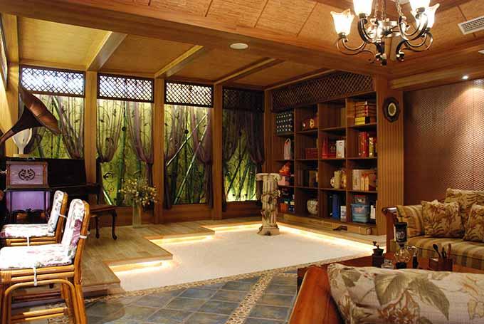 田园风格客厅装潢设计
