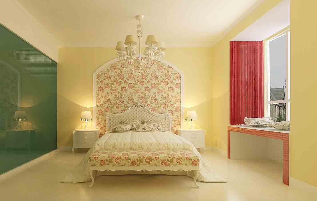 欧式田园卧室装修效果图