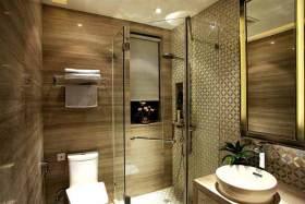 现代原木卫生间装修效果图