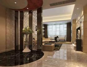 中式典雅客厅玄关设计