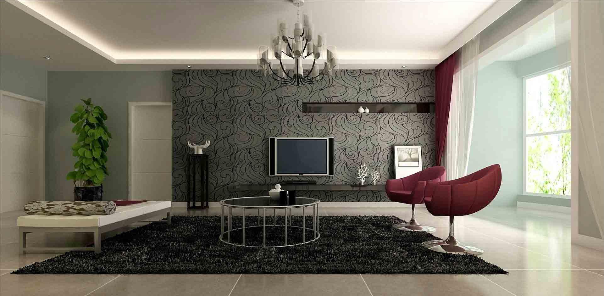 装修美图 现代客厅装修设计图  免费户型设计 3家优质装修公司免费帮