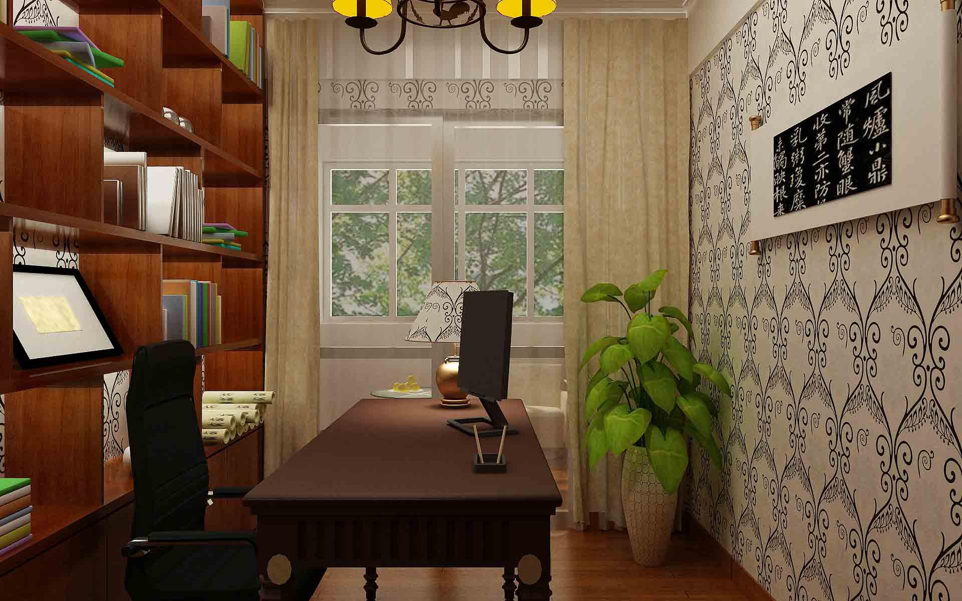 新古典书房装修设计图