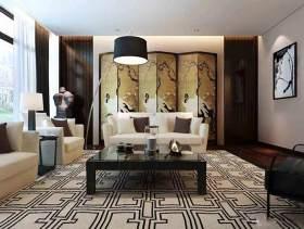 现代时尚中式客厅装修效果图