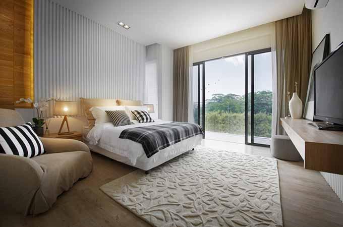 现代卧室装修效果图-兔狗装修效果图图片