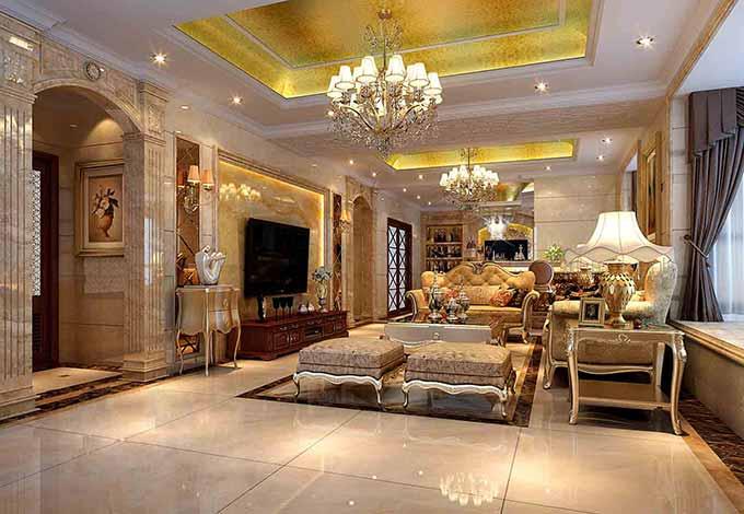 华丽欧式客厅装修效果图图片