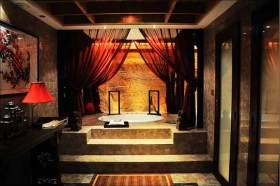 中式华贵卫生间装潢设计