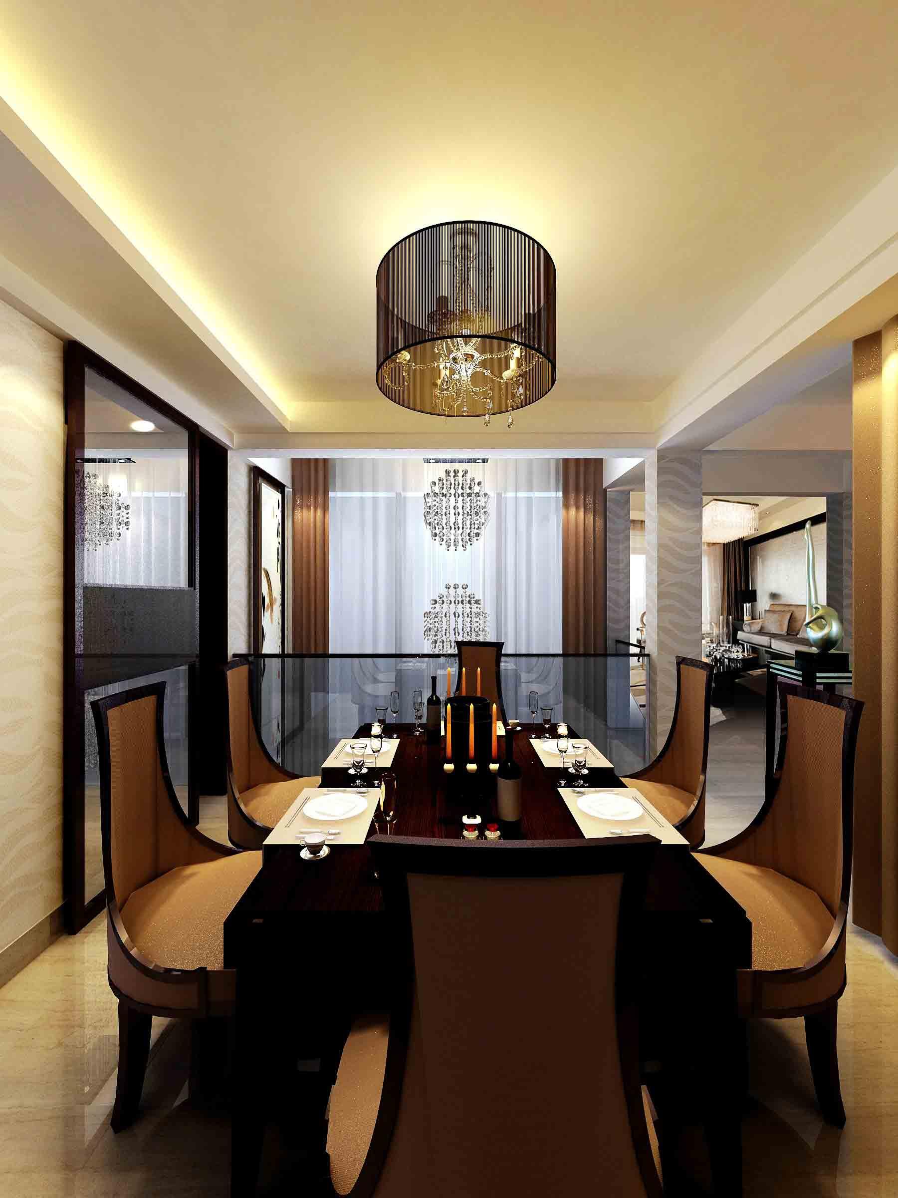 欧式现代化餐厅装修效果图