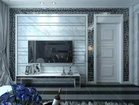 极简新古典主义客厅背景墙设计