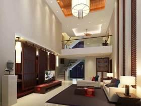 中式现代客厅装修效果图