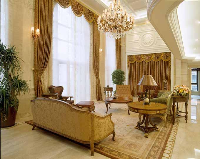 高端大气欧式客厅装修效果图