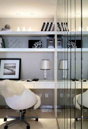 时尚炫酷摩登简欧风格卧室收纳局部展示
