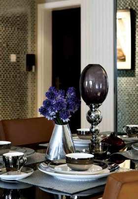 欧式精致浪漫餐桌布置设计展示