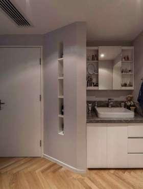 简洁时尚大气简约风格浴室柜展示