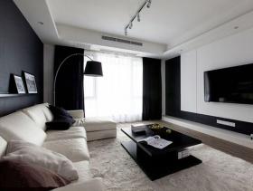 60方极致简约工业风两室一厅装修效果图