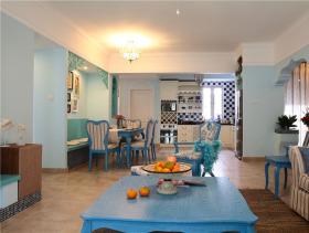 地中海假日风情休闲温馨三居户型装潢展示
