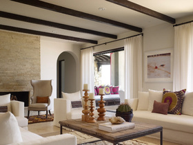 米色舒适温馨美式风格别墅装修装潢