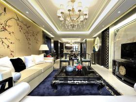 新中式现代风格四室两厅设计欣赏