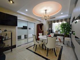 140平后现代温馨三室两厅装潢美图欣赏