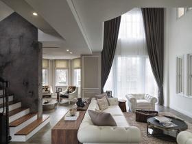经典黑白灰简约创意别墅装潢设计展示