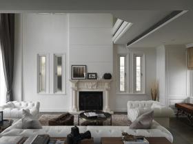 欧式黑白客厅装修设计