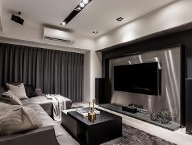 灰色空间现代风格四居室精品装修案例欣赏