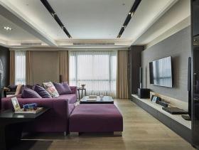稳重精致现代风格三居装修案例