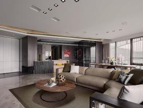 时尚优雅现代风格三居装潢案例