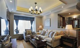 美式现代经典温馨客厅设计