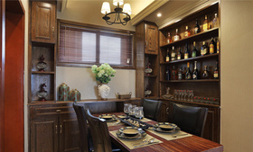 中式富贵餐厅酒柜设计