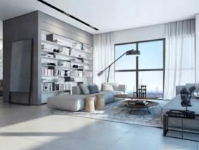 简洁现代风格106平两居装修案例