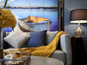 与海为邻蓝色现代摩登个性两居装修案例