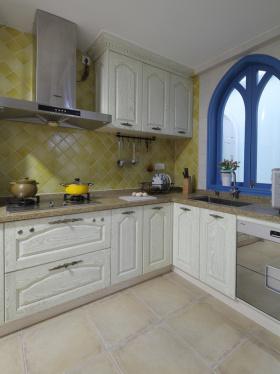 地中海蓝白厨房设计